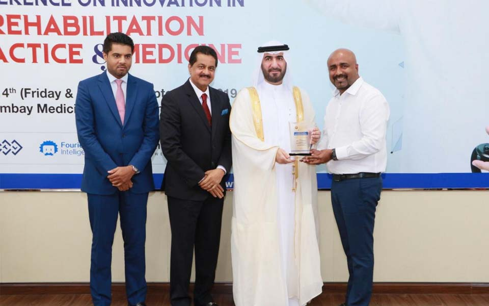 Ajman: Dr. U. T. Ifthikar Ali honoured with special award in Physical Therapy