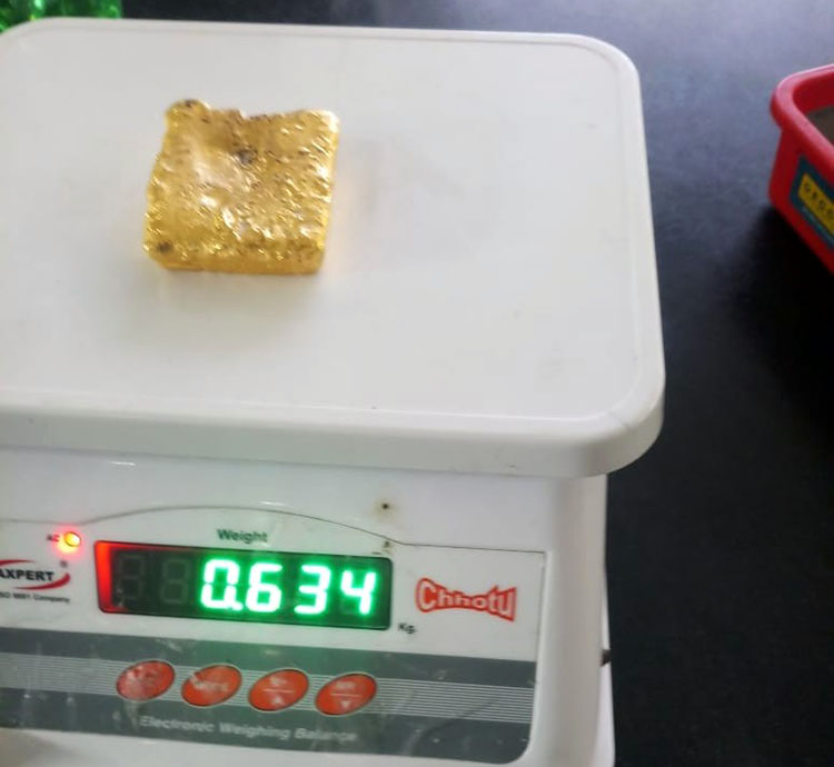 Mangaluru: Gold worth over Rs. 32 lakh seized at Mangaluru airport, one arrested