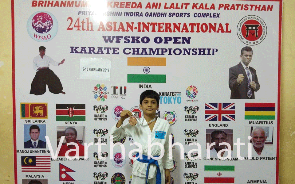 10 year old Mangaluru student secures third place at International