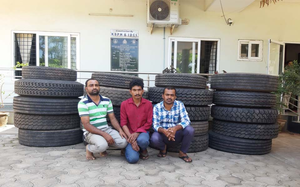 Mangaluru: Three arrested in connection with tyres theft case