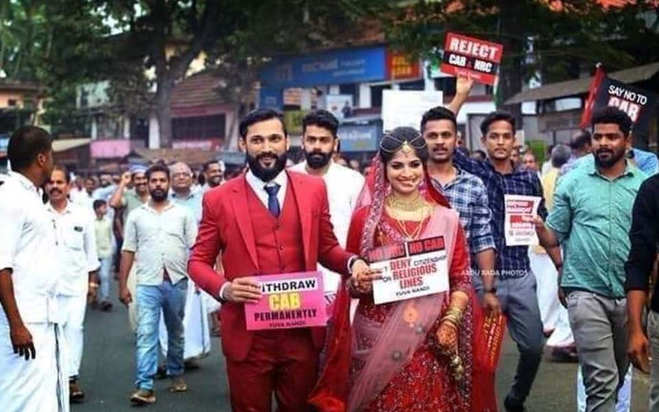 Now, marriages, photo-shoots & xmas festivities turn anti-CAA protest venues in Kerala