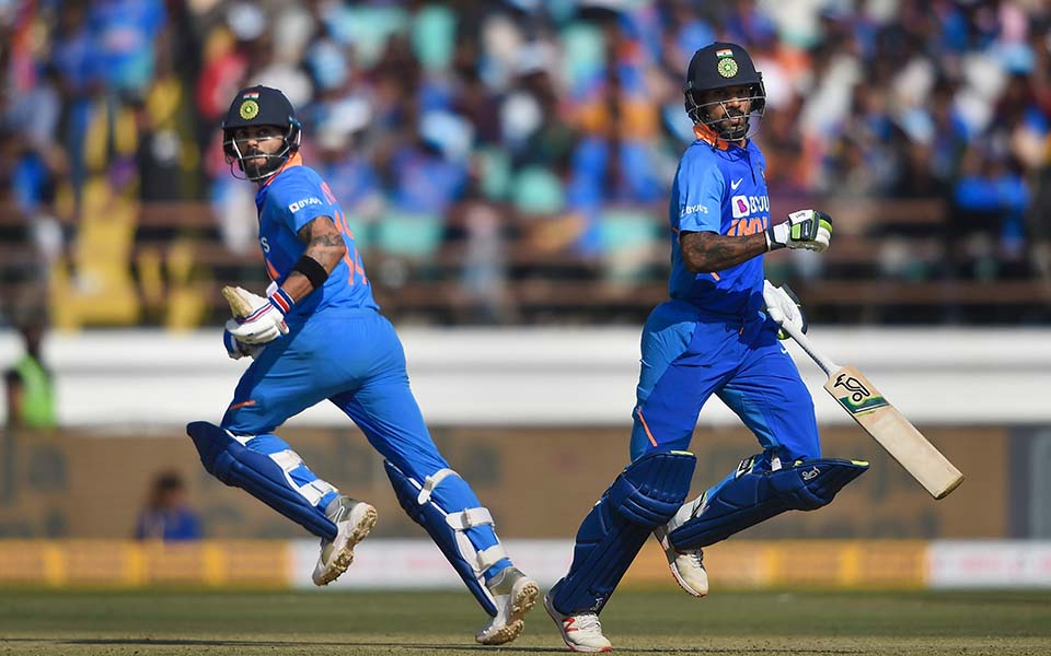 2nd ODI: Dhawan misses ton as Kohli, Rahul guide India to 340/6 against Australia