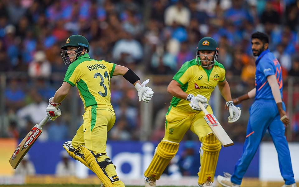 Finch, Warner smash centuries as Australia thrash India by 10 wickets in 1st ODI