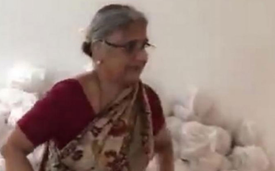 Video of Sudha Murthy goes viral, here's why